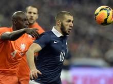 Karim Benzema traf zum 1:0 gegen die Niederlande