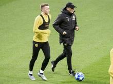 Marco Reus (l.) ist zurück im BVB-Training