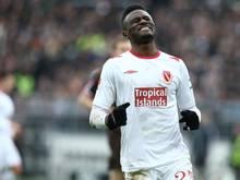 Boubacar Sanogo traf gegen Bielefeld gleich zwei Mal