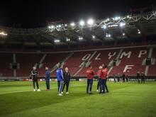 Beim Spiel von Olympiakos Piräus dürfen Fans ins Stadion