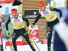 Eric Frenzel und Fabian Rießle siegen im Teamsprint