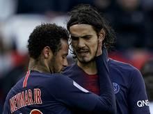 Cavani stärkt seinem Teamkollegen Neymar den Rücken