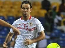 Zouhaier Dhaouadi erzielt den Siegtreffer für Tunesien