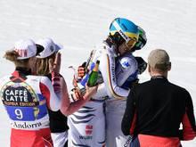 Neureuther lässt sich nach seinem letzten Rennen feiern
