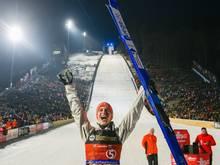 Leyhe gewann im Februar sein erstes Weltcupspringen