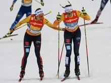 Fünfter Platz für Pia Fink (l.) und Victoria Carl