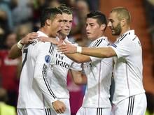 Real Madrid bejubelt das zwischenzeitliche 3:0