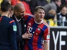 Fällt gegen Leverkusen aus: Bastian Schweinsteiger (r.)
