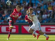 Anders Konradsen (l.) verpasst das Spiel gegen die DFB-Elf