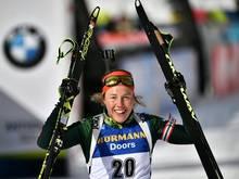 WM-Sprint: Laura Dahlmeier gewinnt Bronze in Östersund