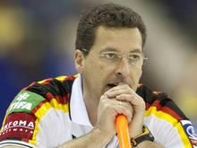 Pleite für die deutschen Curling-Herren und Trainer Kapp