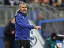 Tim Walter feierte mit dem HSV einen späten Sieg