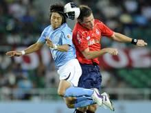 Hiroki Yamada (l.) wechselt zum Karlsruher SC