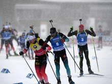 Die deutschen Biathleten verpassten die Medaillenränge