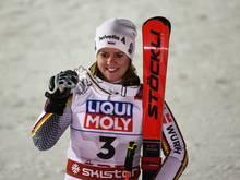 Viktoria Rebensburg gewann in Are Silber im Riesenslalom
