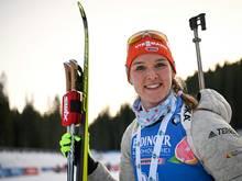 Denise Herrmann gewinnt in Antholz die Silbermedaille