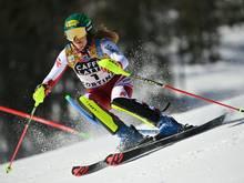 Katharina Liensberger gewinnt Gold im Slalom