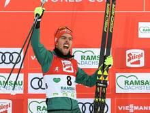 Johannes Rydzek holt den 17. Weltcupsieg seiner Karriere