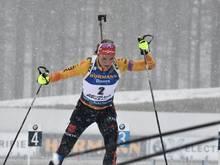Denise Herrmann wird in Kontiolahti Zweite