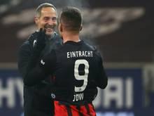 Eintracht-Frankfurt-Trainer Adi Hütter hält sich bei Luka Jovic noch bedeckt