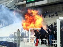 Bereits vor dem Spiel kam es in Athen zu gefährlichen Szenen