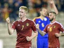Kevin de Bruyne leitete Belgiens Kantersieg ein