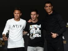 Die drei Anwärter auf die Wahl zum Weltfußballer: Neymar, Messi und Ronaldo