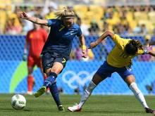 Die Fußballerinnen aus Schweden stehen im Finale von Rio