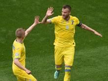 Ukraine nach zweitägiger Wartezeit im EM-Achtelfinale