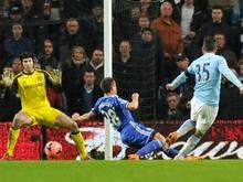 Stevan Jovetic erzielte das 1:0 für Manchester City