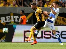 Dynamo-Stürmer Pascal Testroet (l.) meldet sich zurück