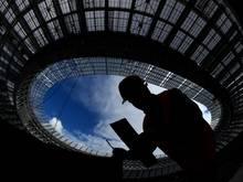 Die Bauarbeiten im Luzhniki-Stadion laufen
