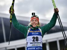 Laura Dahlmeier will auch bei der WM in Östersund jubeln