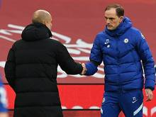 Pep Guardiola (l.) und Thomas Tuchel stehen im Champions-League-Finale