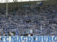 Die Fankurve der Magdeburger wird gegen Halle wohl weniger gefüllt sein