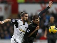 Swanseas Flores mit Ziegelstein-Attacke im Training?