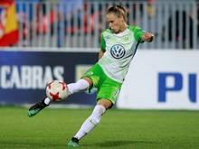 Ewa Pajor erzielt den Ausgleich für Wolfsburg