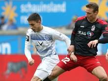 Menz (r.) spielte bereits für Erfurt in der 3. Liga