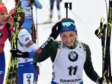 Franziska Preuß wird Zweite im Sprint hinter Kuzmina