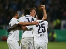 Bochum jubelt über das 1:0 gegen Kaiserslautern