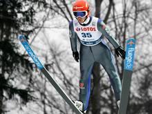 Stephan Leyhe springt im ersten Durchgang auf 135,0 m