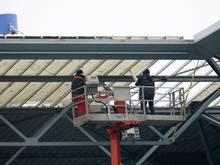 Ein Dachschaden an der MSV-Arena führt zu Spielausfall