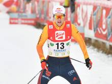 Vinzenz Geiger wird hinter Magnus Riiber Zweiter