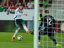 Kyle Lafferty erzielt das Siegtor gegen Ungarn