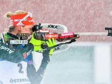 Denise Herrmann belegt Platz zwei in der Verfolgung