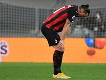 Zlatan Ibrahimović könnte aufgrund einer Verletzung bei der EM zum Zusehen gezwungen sein