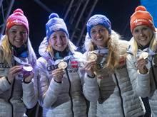 Die deutsche Staffel belegte in Nove Mesto Rang drei