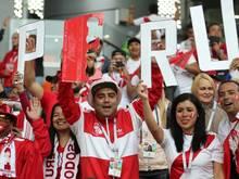 Die peruanischen WM-Fans waren ein Stimmungsgarant
