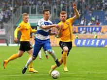 Fetsch (r.) wechselt von Dynamo Dresden zu Holstein Kiel