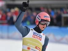 Karl Geiger strebt dritten Weltcupsieg an